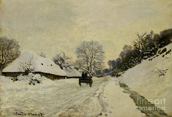 Backroad Wall Art - Painting - The Cart by Claude Monet