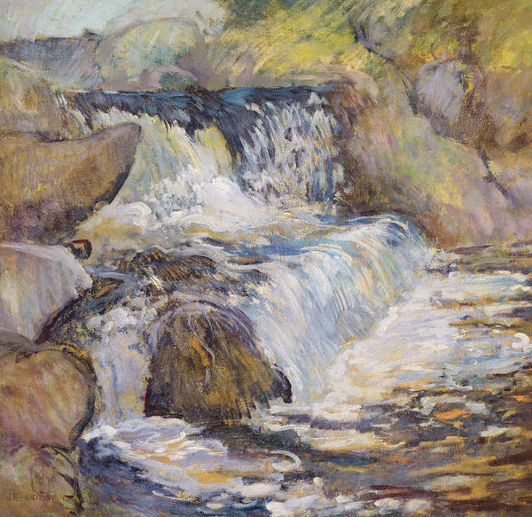 Cascade Painting - The Cascade by John Henry Twachtman