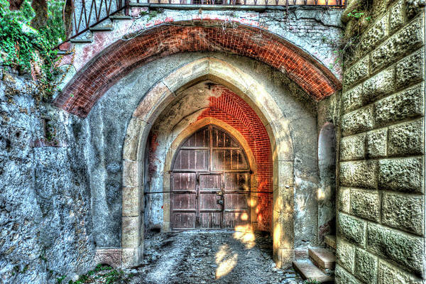 Photograph - The Castle Door - La Porta Del Castello by Enrico Pelos