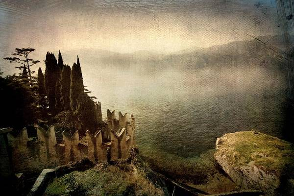 Photograph - The Castle On The Lake. Malcesine by Vittorio Chiampan