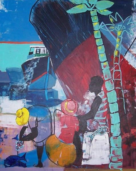 Caribbean Wall Art - Painting - The Catch by Jan Farara