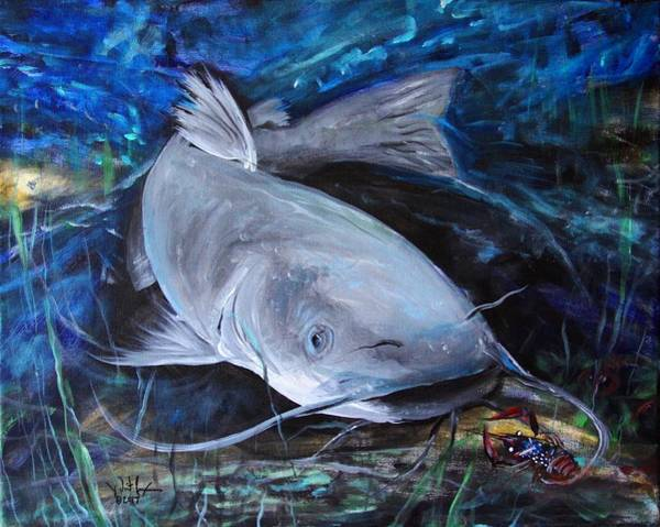 Painting - The Catfish And The Crawdad by J Vincent Scarpace
