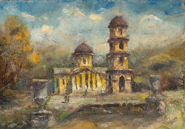 Moldova Wall Art - Painting - The Cathedral. Chisinau by Sveatoslav Zacon