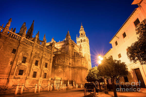 Wall Art - Photograph - The Cathedral Of Seville by Delphimages Photo Creations