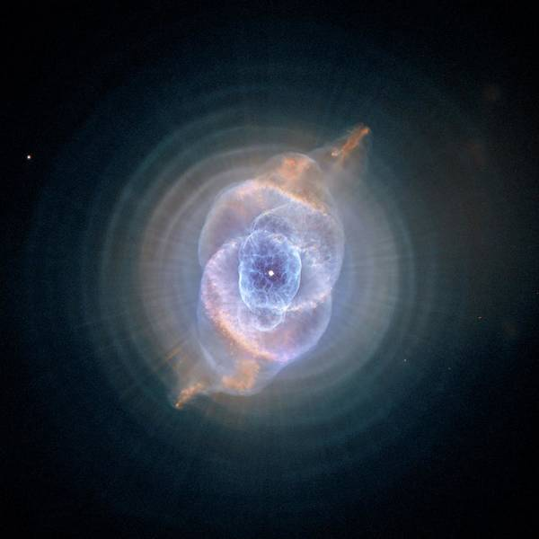 Painting - The Cat's Eye Nebula by Hubble Space Telescope