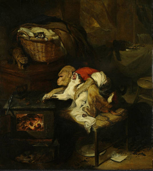 Wall Art - Painting - The Cat's Paw by Edwin Landseer