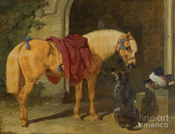 Painting - The Cavalier's Charger by Celestial Images