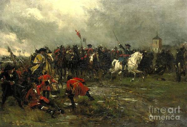 Painting - The Cavalry Charge by Celestial Images