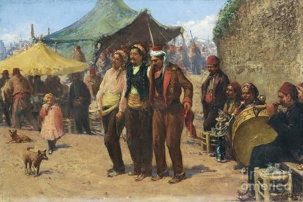 Fausto Zonaro Painting - The Celebration by Celestial Images