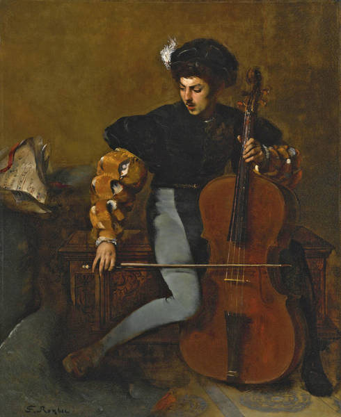 Cellist Painting - The Cellist by Ferdinand Roybet