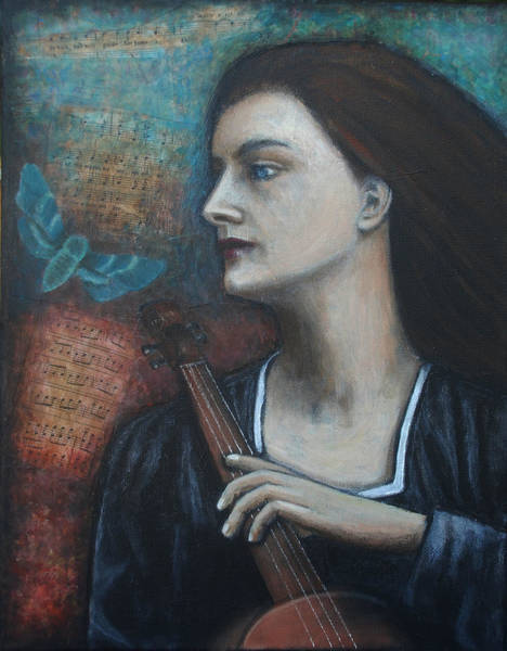 Cellist Painting - The Cellist by Lori Gilroy