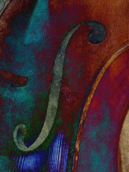 Photograph - The Cello - Pop Art by Marianna Mills