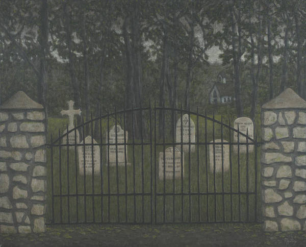 Sacred Ground Painting - The Cemetery Gates by Mystery McCarthy
