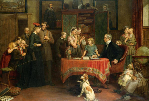 Census Painting - The Census Of April The 8th 1861 by Charles Landseer