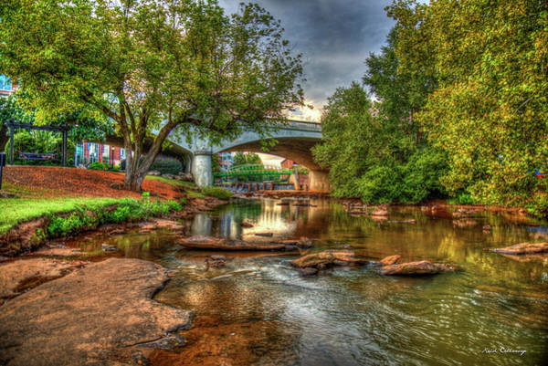 Photograph - The Center Of Town Reedy River Falls Park Greenville South Carolina Art by Reid Callaway
