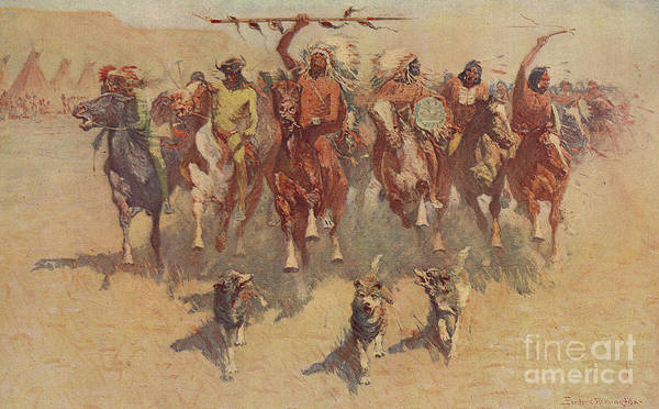 Wall Art - Painting - The Ceremony Of The Scalps by Frederic Remington