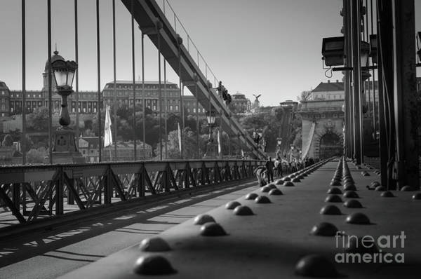 Art Print featuring the photograph The Chain Bridge, Danube Budapest by Perry Rodriguez