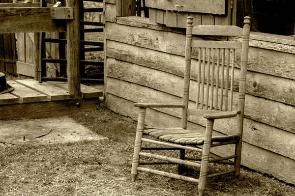 Photograph - The Chair by Buddy Scott