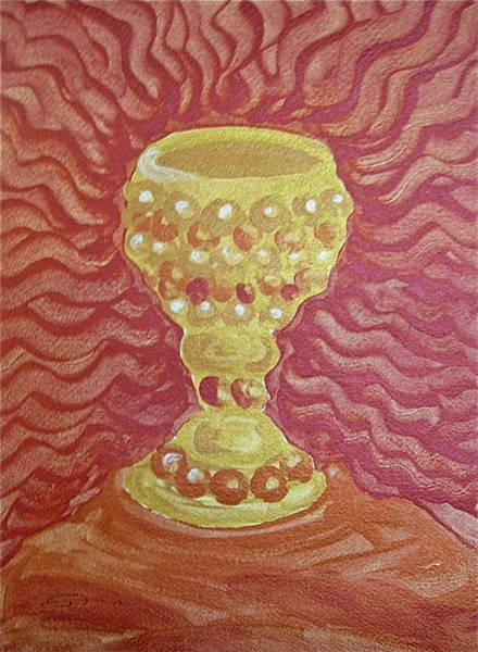 Finger Paint Painting - The Chalice Or Holy Grail by Michele Myers