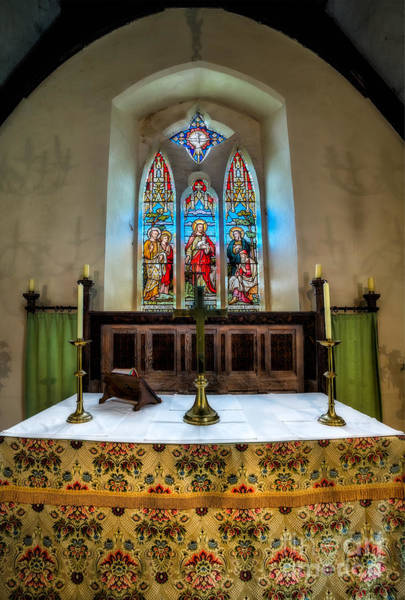 Crucifix Photograph - The Chancel by Adrian Evans