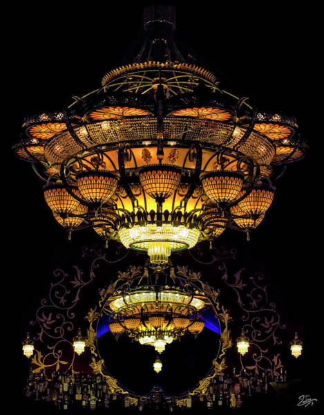 Photograph - The Chandelier At Romanov's Restaurant by Endre Balogh