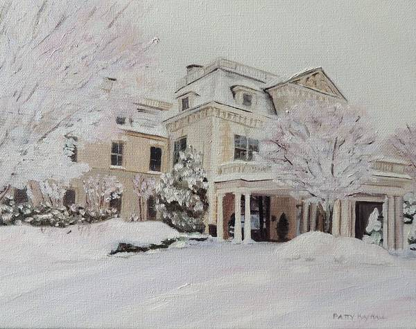 Snowscape Painting - The Chanler Newport Rhode Island Ri by Patty Kay Hall