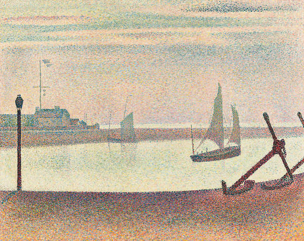 Painting - The Channel At Gravelines Evening by Georges-Pierre Seurat