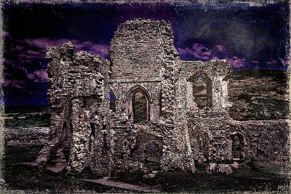 Photograph - The Chapel Ruins In Moonlight by Chris Lord