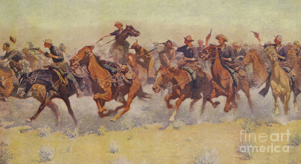 Regiment Wall Art - Painting - The Charge by Frederic Remington