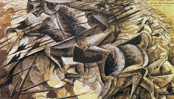 Charge Wall Art - Painting - The Charge Of The Lancers by Umberto Boccioni