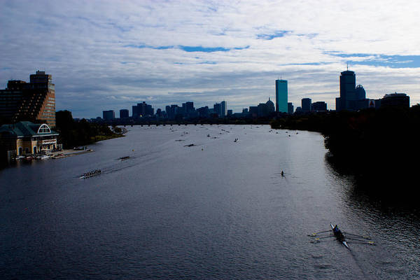Racing Shell Photograph - The Charles by Tim  Telep