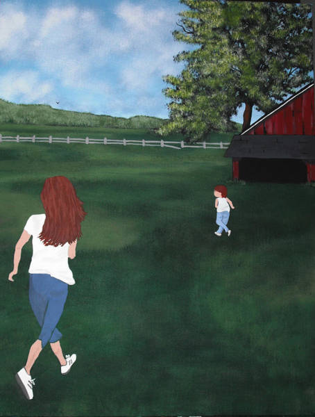 Wall Art - Painting - The Chase by Candace Shockley