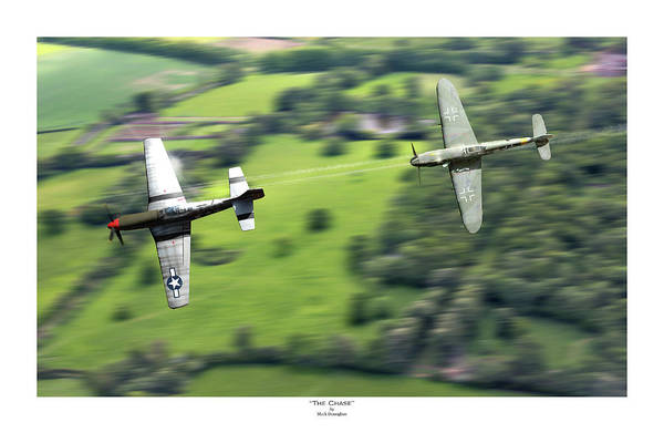 Luftwaffe Wall Art - Digital Art - The Chase - Titled by Mark Donoghue