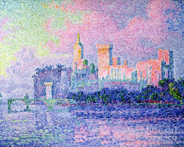 1900 Painting - The Chateau Des Papes by Paul Signac