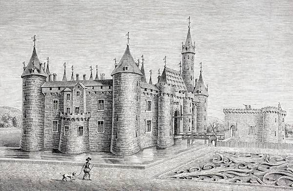 Chateau Drawing - The Chateau Of Rambouillet, France by Vintage Design Pics