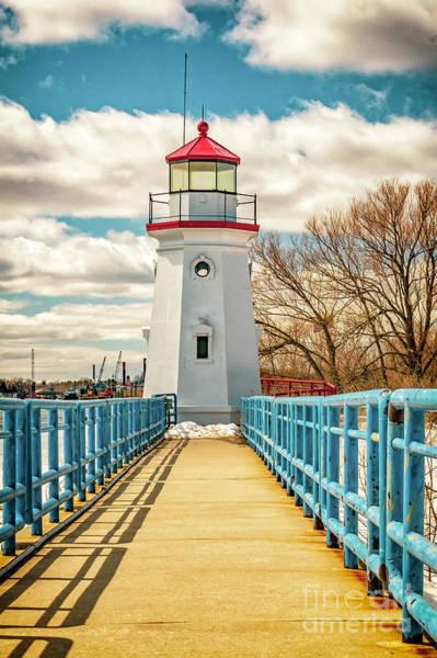 Photograph - The Cheboygan Crib Lighthouse by Nick Zelinsky
