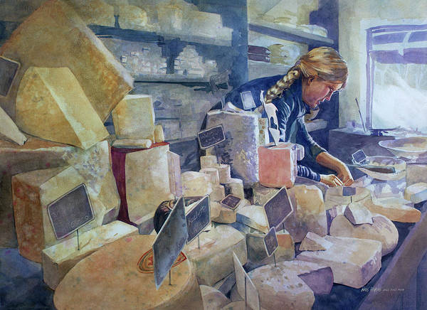 Wall Art - Painting - The Cheese Shoppe by Kris Parins