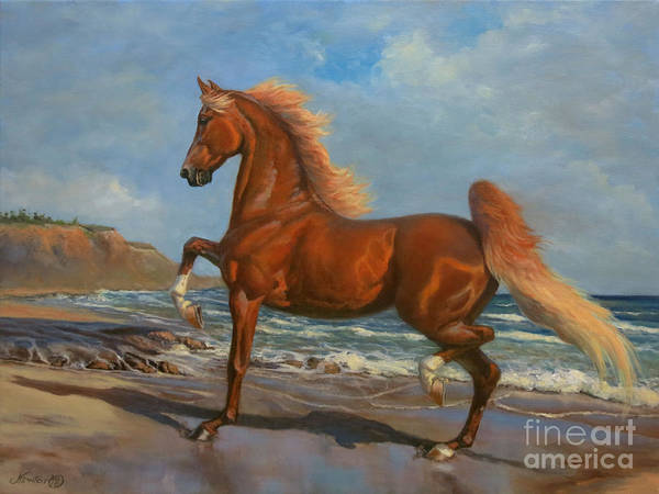 Wall Art - Painting - The Chestnut Mare by Jeanne Newton Schoborg