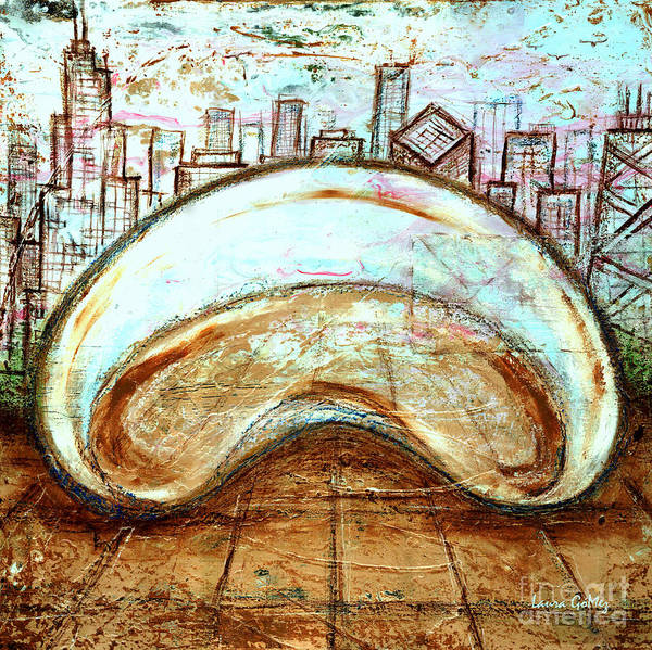 Arte Mixed Media - The Bean - Chicago by Laura Gomez