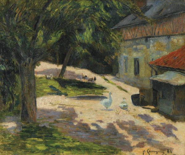 Painting - The Chicken Coop by Paul Gauguin