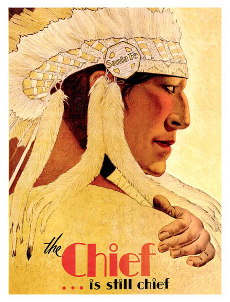 Wall Art - Painting - The Chief Is Still Chief by Long Shot