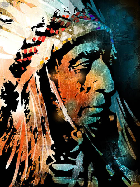 Wall Art - Painting - The Chief by Paul Sachtleben