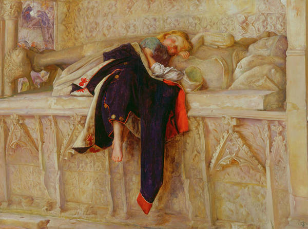 Everett Painting - The Child Of The Regiment by John Everett Millais