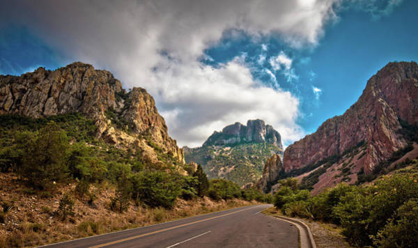 Middle Of Nowhere Photograph - The Chisos Mountains by Linda Unger