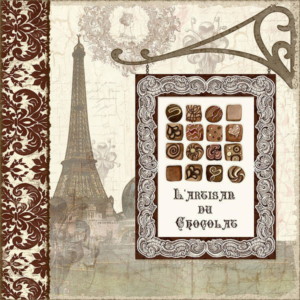 Hand Made Painting - The Chocolate Artisan - Paris by Audrey Jeanne Roberts