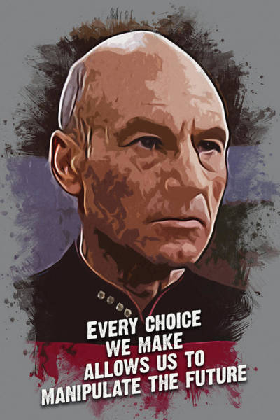 Celebrity Digital Art - The Choice - Picard by Dusan Naumovski