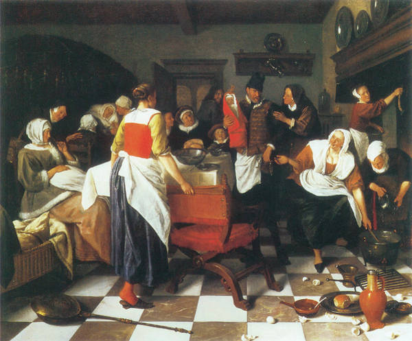 Photograph - The Christening Feast by Jan Steen