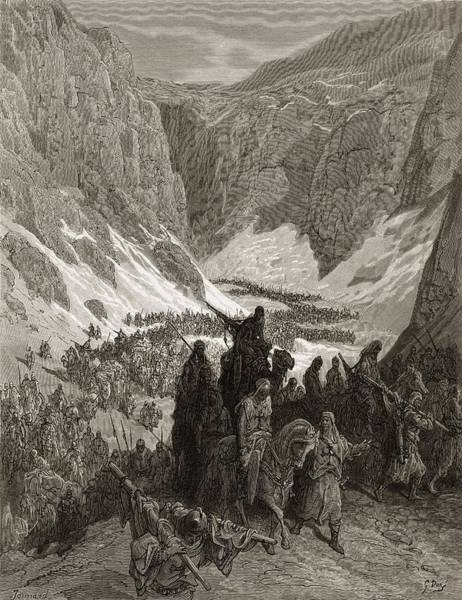 Wall Art - Drawing - The Christian Army In The Mountains Of by Vintage Design Pics
