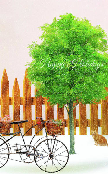 Snow Fence Digital Art - The Ornament by Diana Angstadt