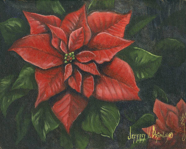 Christmas Flowers Painting - The Christmas Flower by Jeff Brimley